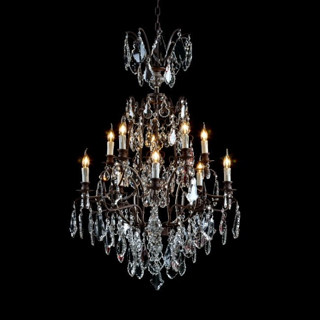 Axe Crystal Chandelier Halo Established